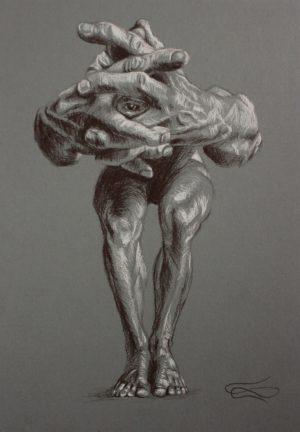 """""""I See You"""", Leo Plaw, 24 x 34cm, pencil on paper"""