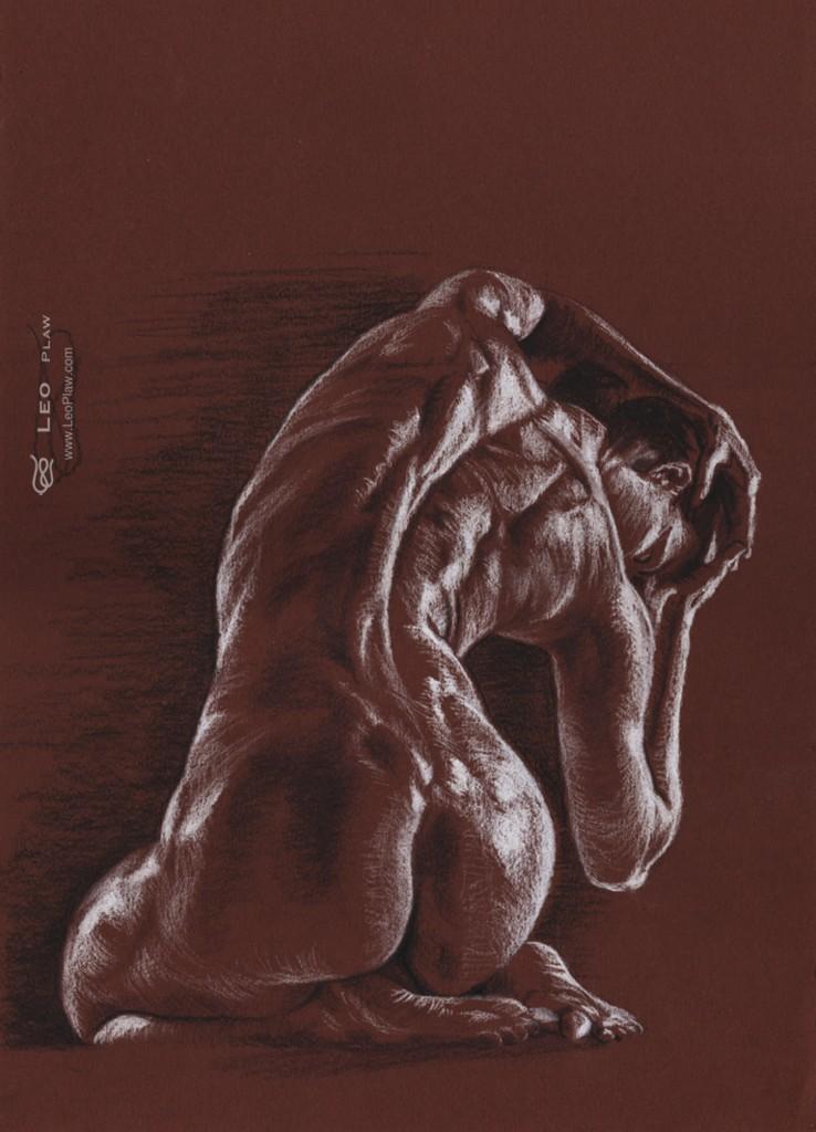 figure 12, Leo Plaw, 24 x 34cm, pencil on paper