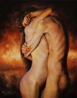 """Enfold"", Leo Plaw, 24 x 30cm, oil on canvas"
