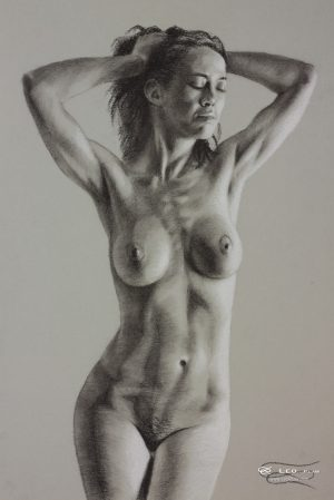 Figure 19, Leo Plaw, 24 x 34cm, pastel pencil on paper