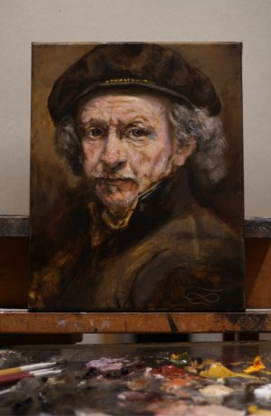 Rembrand on the easel