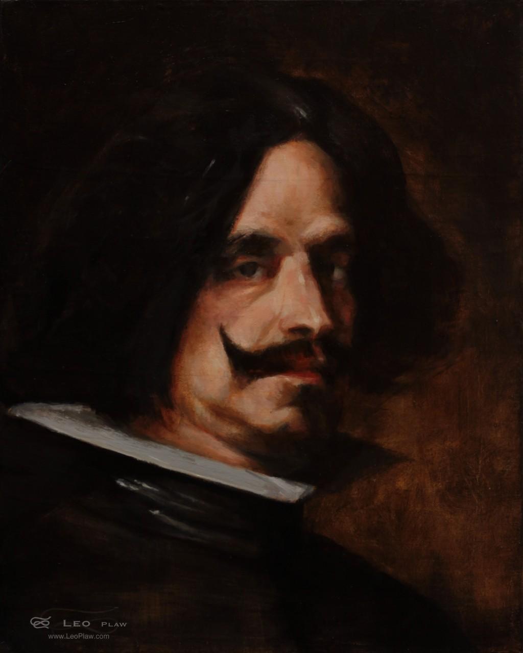 """Diego Velázquez"", Leo Plaw, 24 x 30cm, oil on canvas"