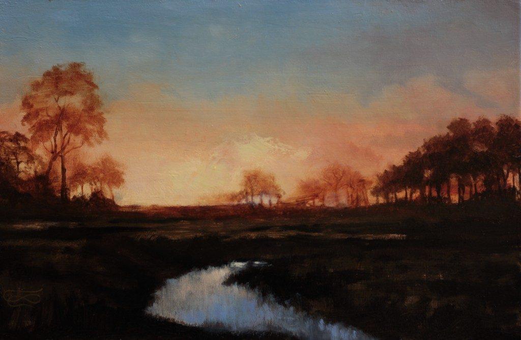 """Landscape 20190321"", Leo Plaw, 30 x 20cm, oil on canvas"