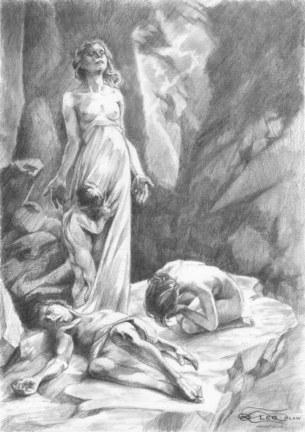 """Parting"", Leo Plaw, 21 x 29.7cm A4, graphite pencil on paper"