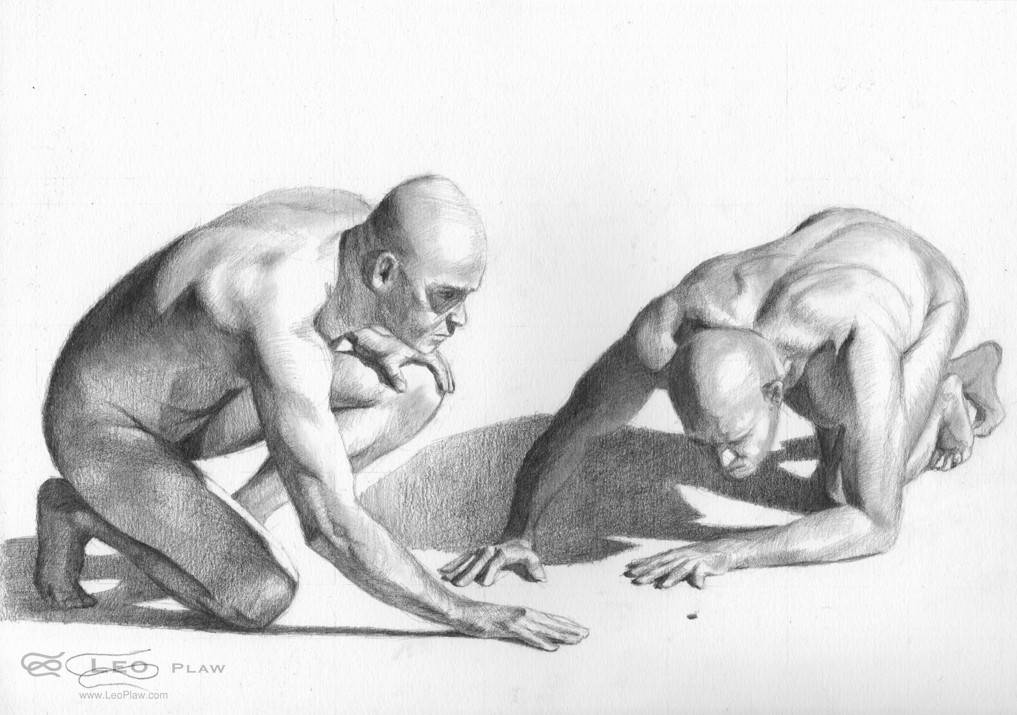 """""""Figure 42 - Drawing"""",Leo Plaw, 30 x 21cm, graphite pencil on paper"""