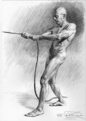 """Figure 43 - Drawing"", Leo Plaw, 21 x 30cm, graphite pencil on paper"