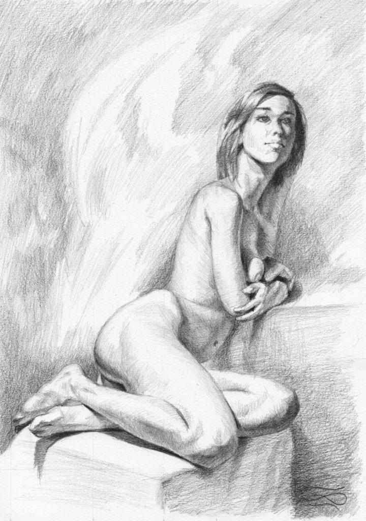 """Figure 47 - Graphic"", Leo Plaw, 21 x 30cm, graphite pencil on paper"