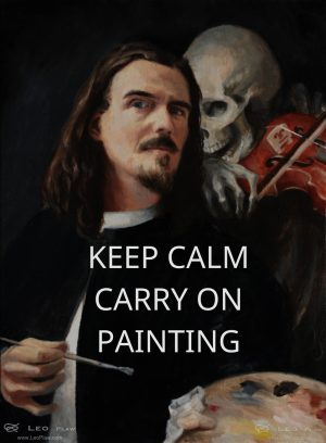 Keep calm carry on painting