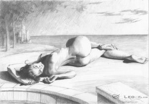 """""""Figure 55 - Drawing"""", Leo Plaw, 30 x 21cm, graphite pencil on paper"""